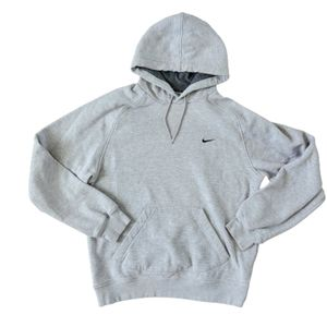 Y2K VTG Nike Heathered Gray Mini Swoosh Hoodie